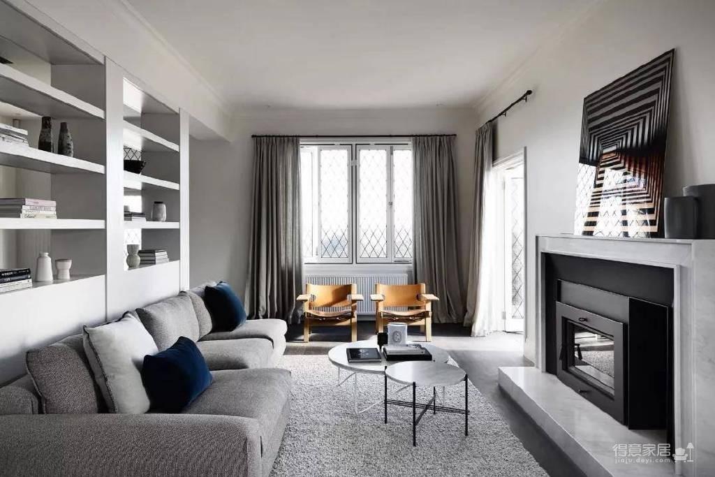 极简都市风公寓设计图_1 _客厅