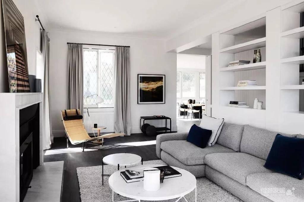 极简都市风公寓设计图_2 _客厅