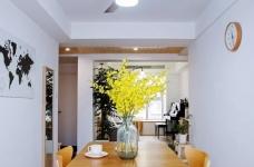 101㎡简约现代三居室图_5 _餐厅