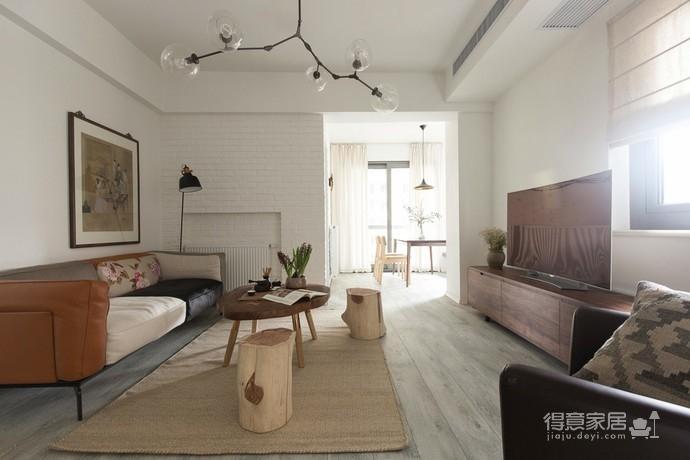 恬静田园风 | 侘寂之美的人文自然风格公寓图_1 _客厅