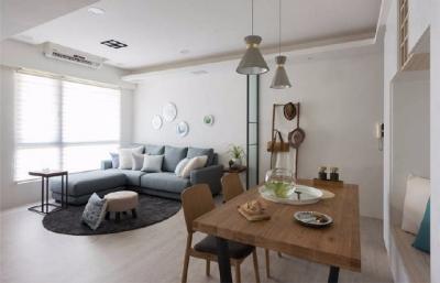 100㎡北欧极简风格家居装修设计,慵懒的阳光照进来的时候一定很美好