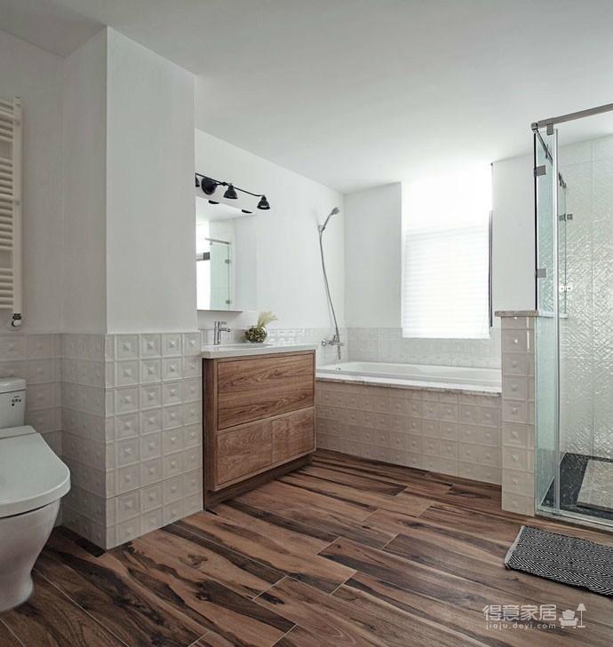 实用北欧大户型设计,让空间归于自然简朴图_9 _卫浴间