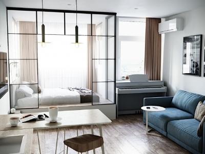 50平活力现代小公寓。