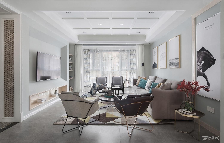 三居室美式风格.图_5
