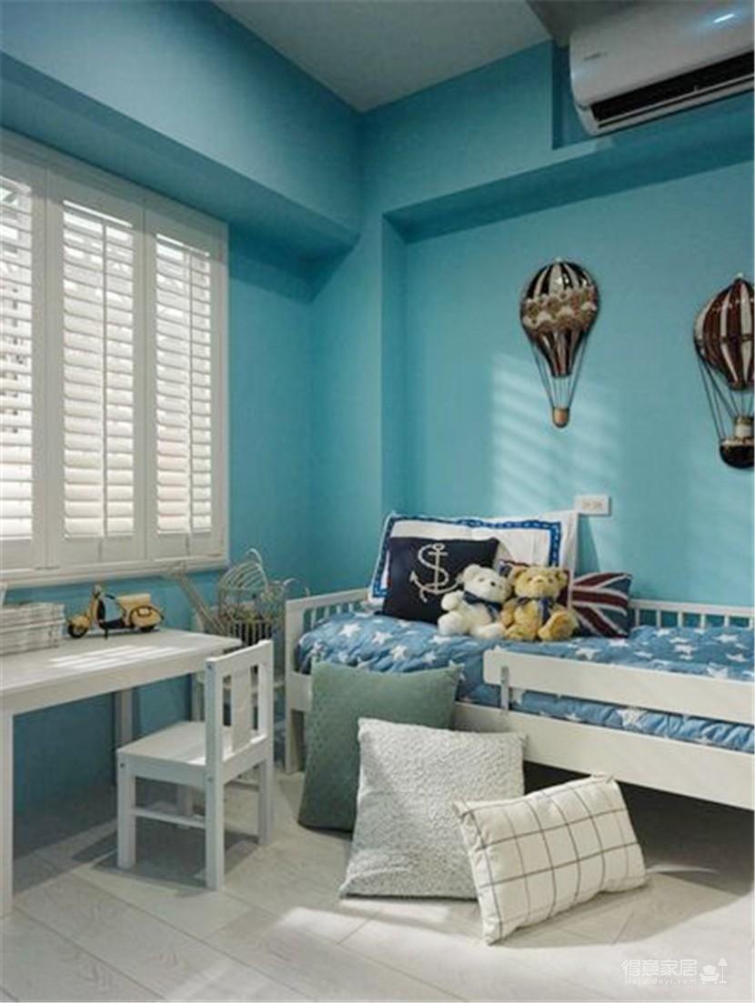 浪漫的地中海风格三居室,一家三口其乐融融图_4