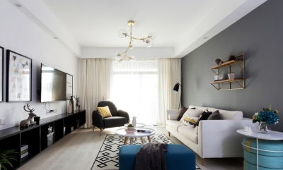 【田园】美式田园混搭140平三室两厅装修效果