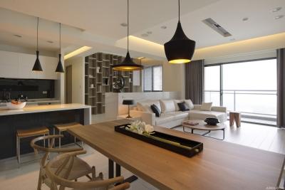 极简风格三居室
