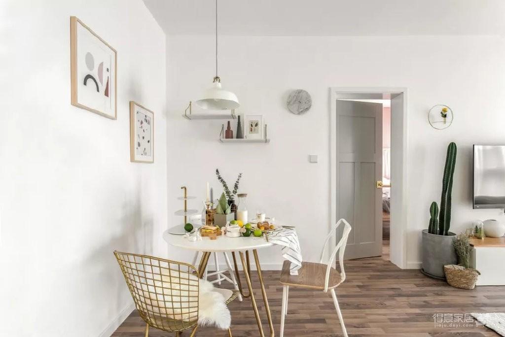 90平方米北欧风格案例图_4 _餐厅