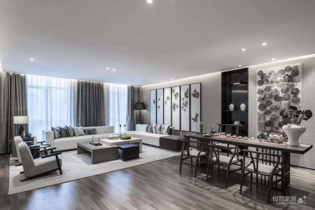 三居室新中式风格图_2