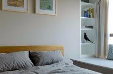 三室一厅北欧轻奢原木餐桌图_5