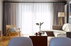 三室一厅北欧轻奢原木餐桌图_11