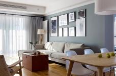 三室一厅北欧轻奢原木餐桌图_2