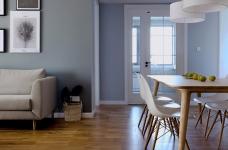 三室一厅北欧轻奢原木餐桌图_3