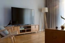 三室一厅北欧轻奢原木餐桌图_1