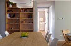 三室一厅北欧轻奢原木餐桌图_9