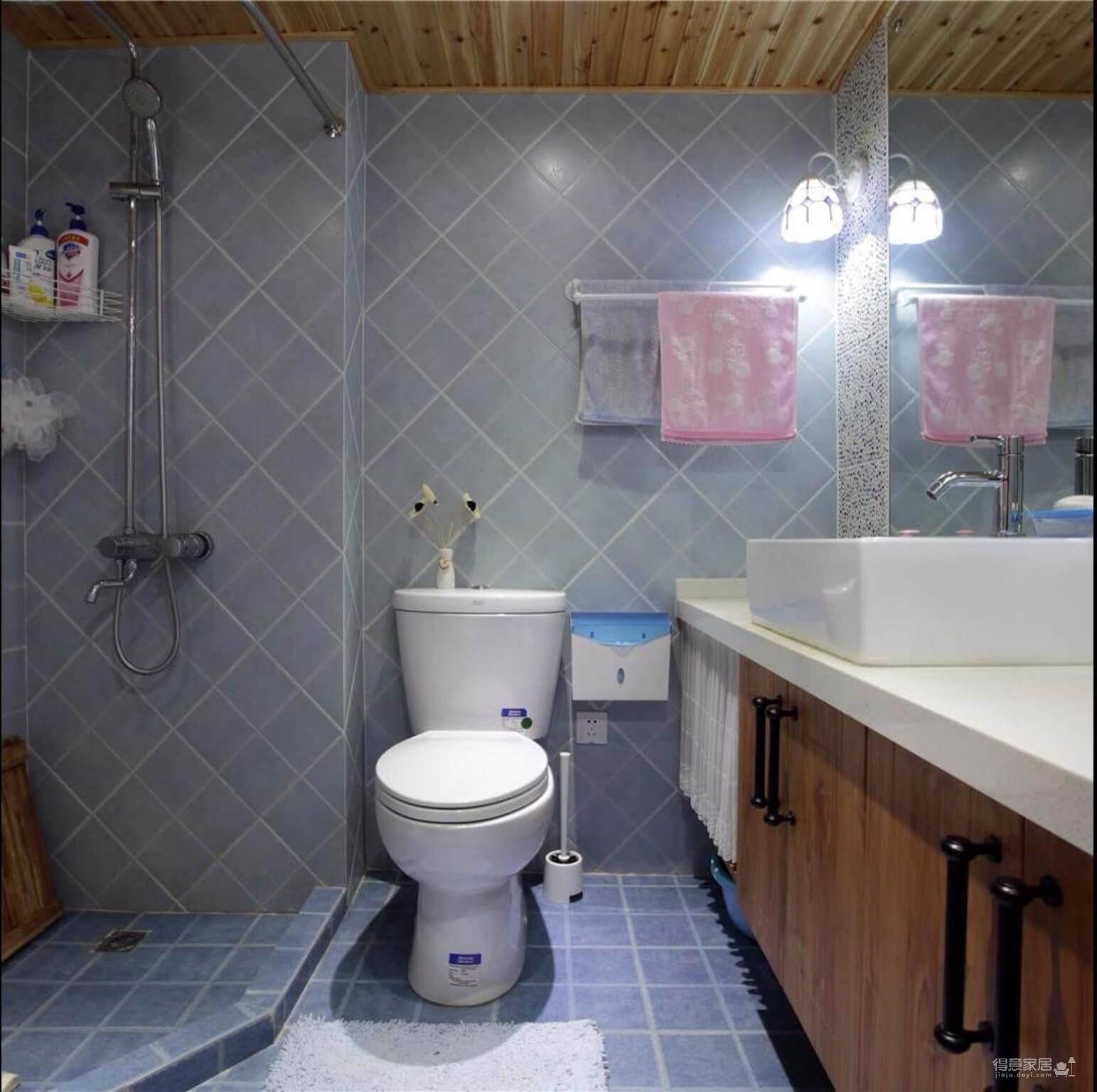 43平一居室木质混搭新美式