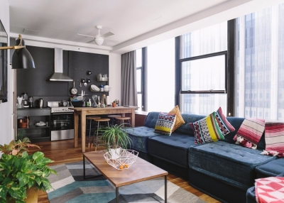 美式风两居室现代感风格