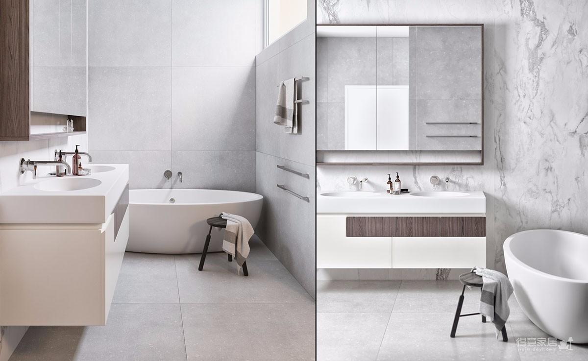 简约风格两居室带浴缸