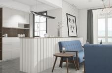 北欧风格2居室85㎡图_2
