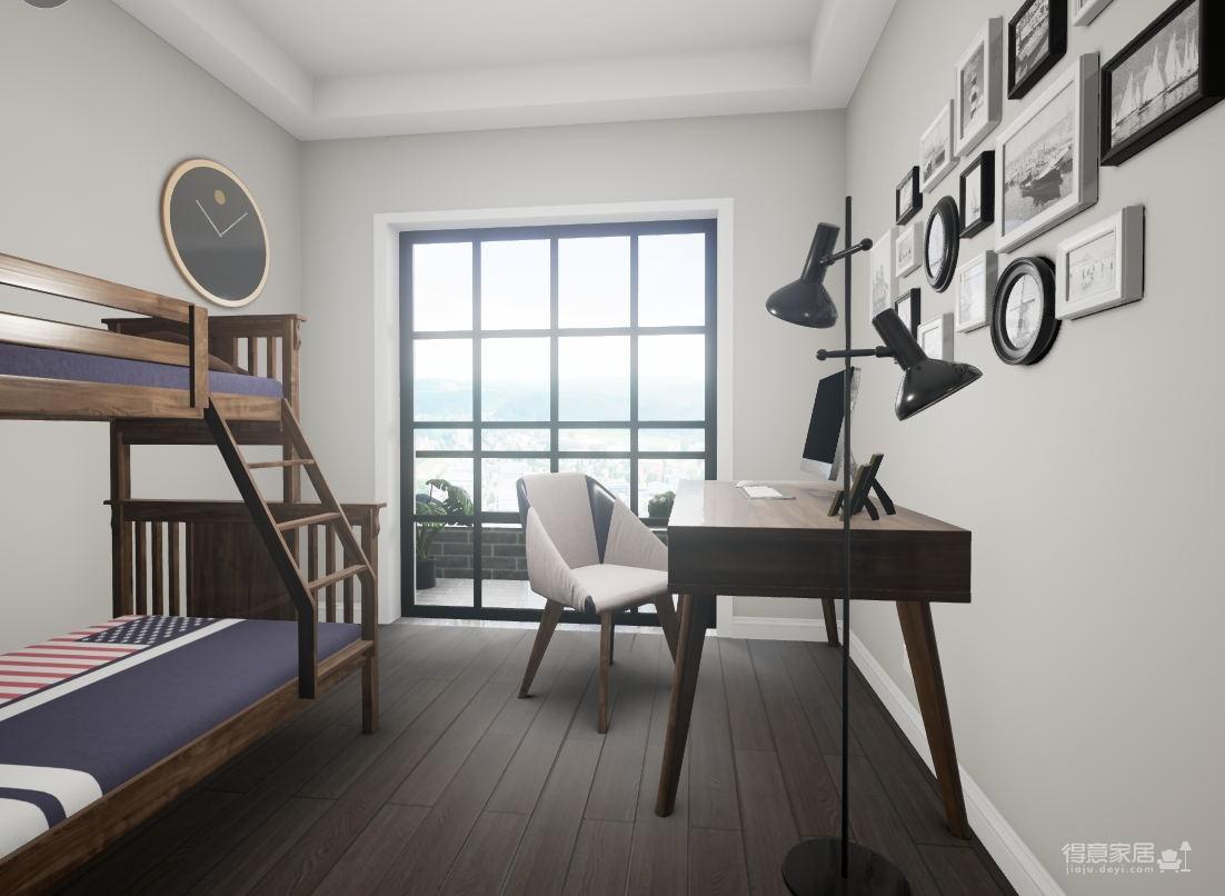 北欧风格2居室85㎡图_4