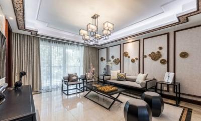 110㎡儒雅新中式风格家居装修设计
