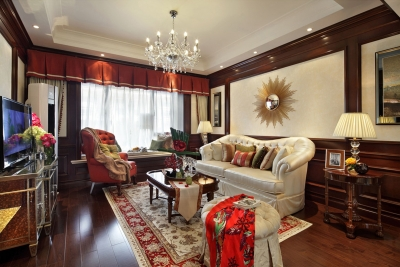 【美式】130平三室两厅美式风格