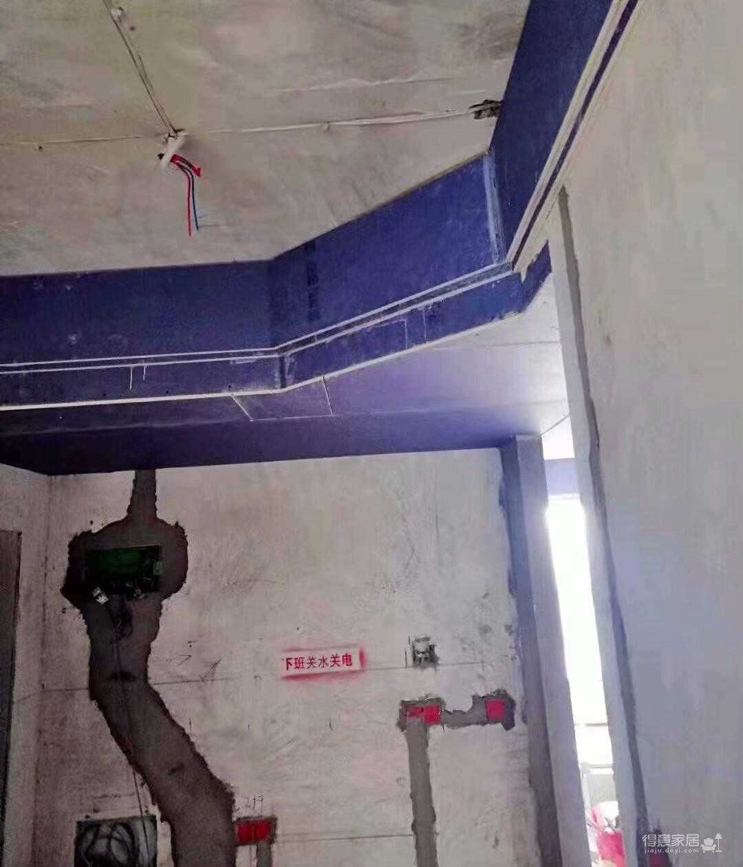 《喜瑞都》住宅样板间墙面铺贴进行中图_2