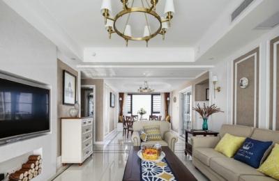 129㎡现代美式风格家居装修设计