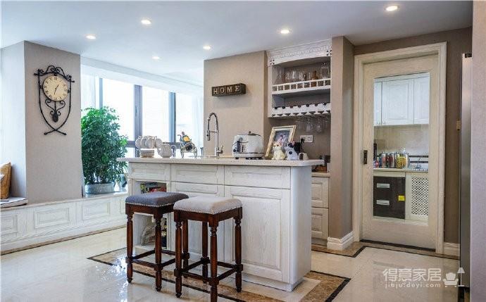 120㎡简约美式风格三居室装修设计案例