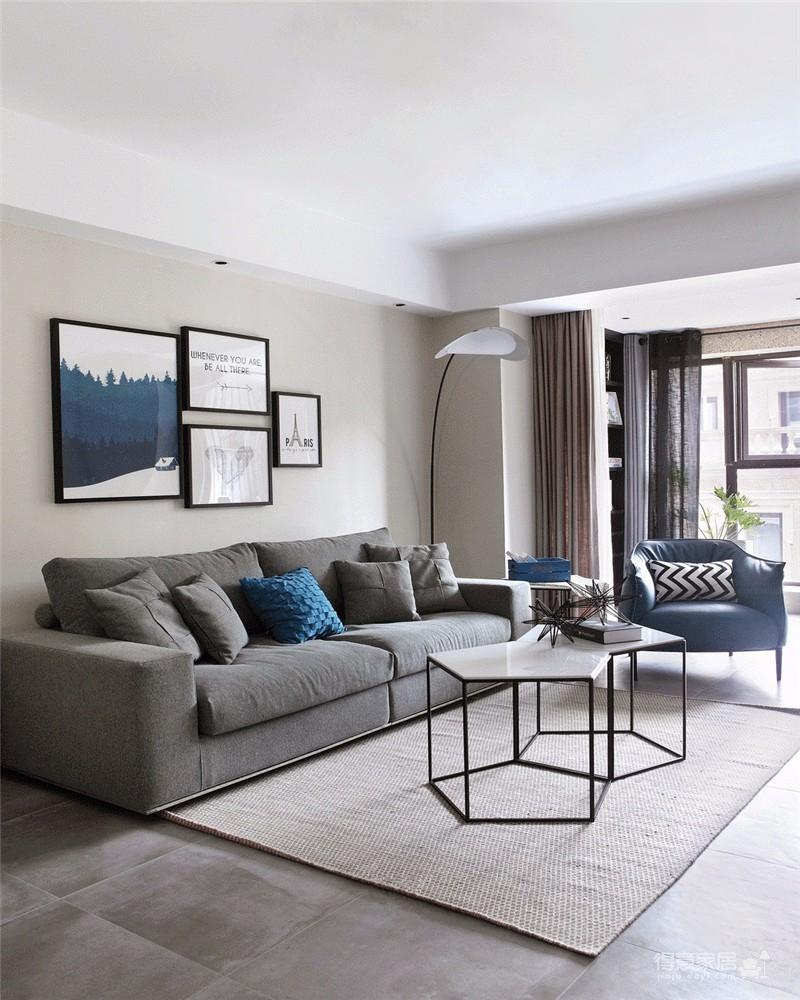 两居室现代简约灰色系
