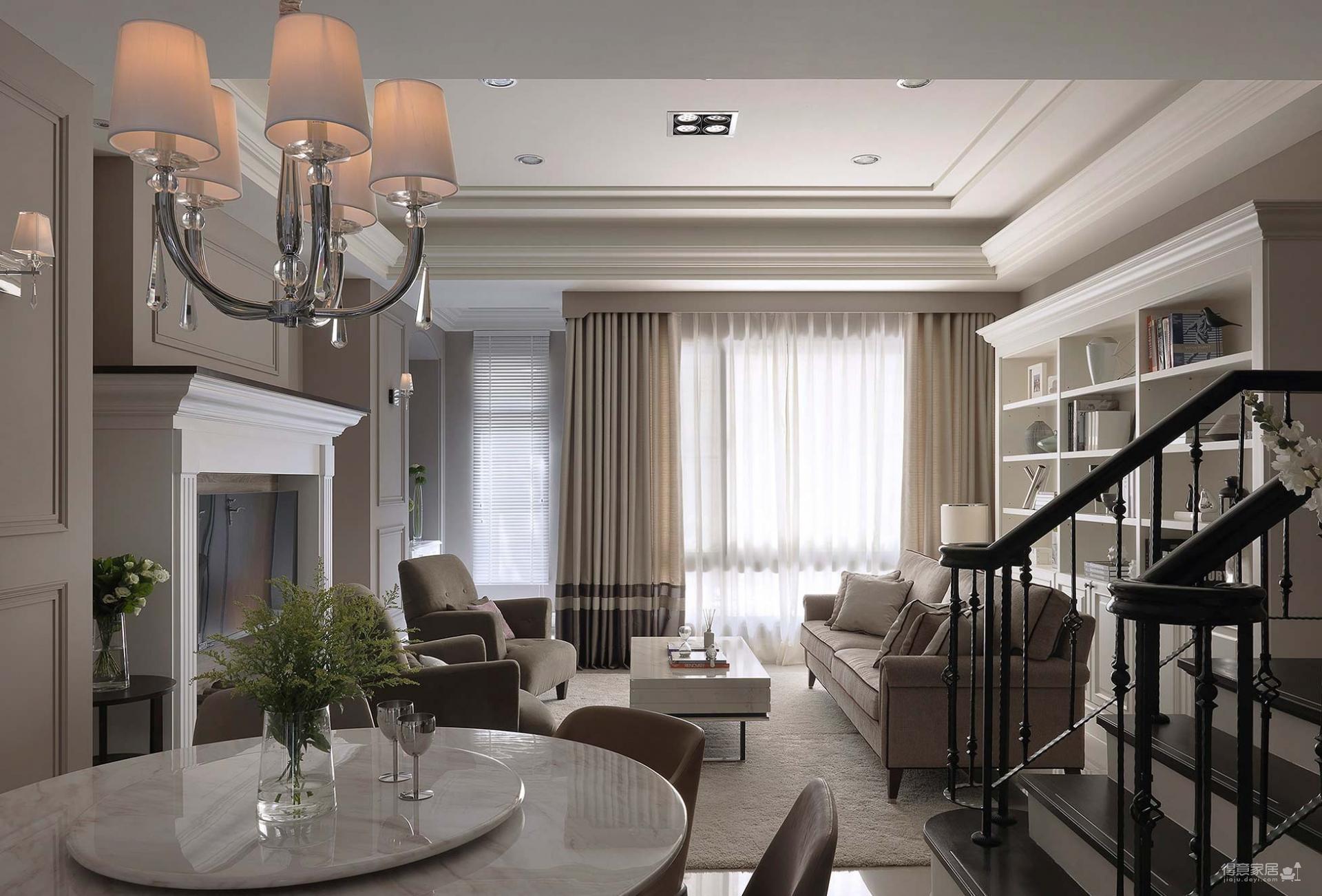 【新古典】172平四室 风姿绰约的新古典居宅图_12