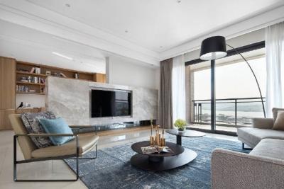 现代简约风格家居装修,木质的感觉很舒服!