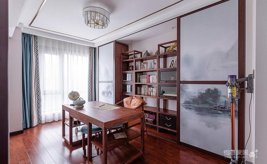 中建汤逊湖 壹号高层189四居室中式风格装饰效果图