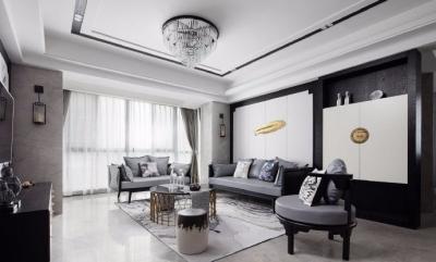 新中式风格家居设计,儒雅大气的水墨之居,个性又有韵味! 