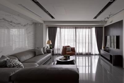 远洋世界3期悦璟湾103平现代古典美学装饰效果图