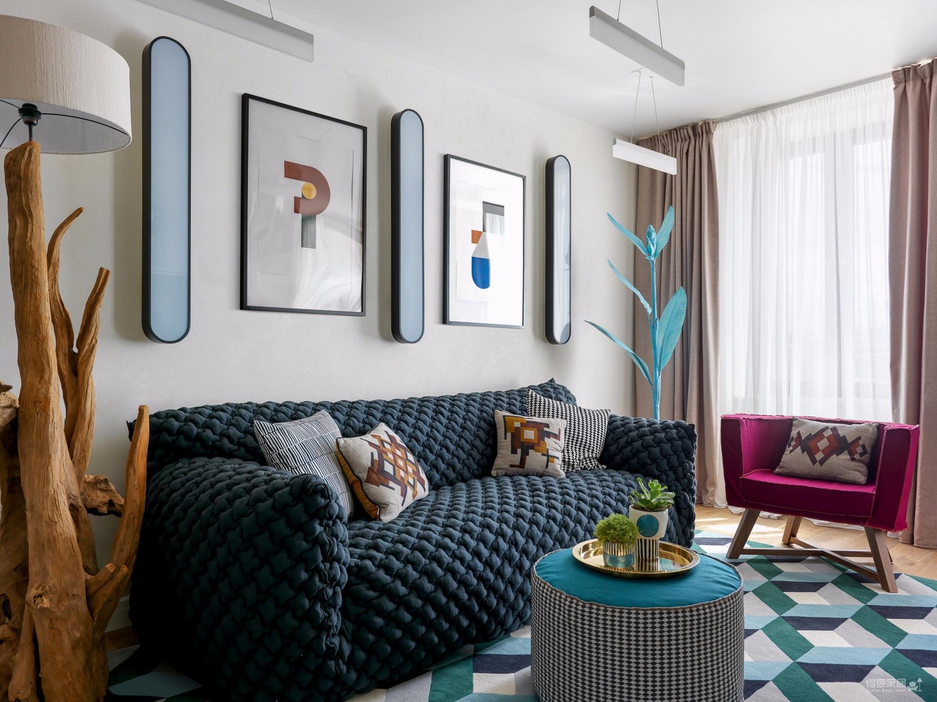 70平方米公寓拥有民族风格的装饰