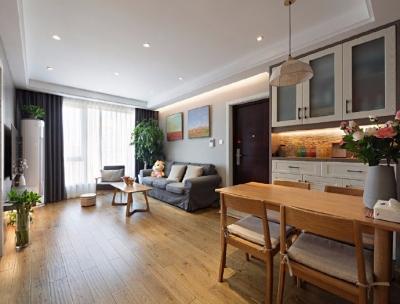 温润原木简约风格家居装修设计案例,柔和的冷灰色调,端庄而别致! 