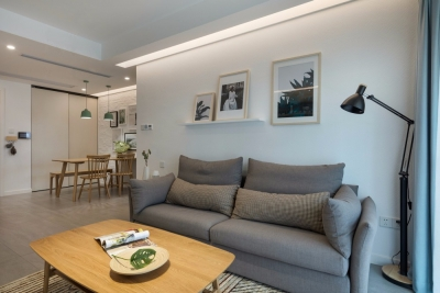 精选北欧风案例两居室高低床