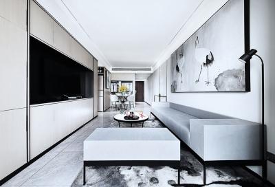 天元四季花城88平两室两厅新中式风格装饰效果图