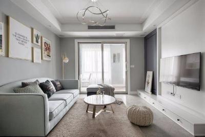 清新细腻北欧风格三居室装修,蓝色调的简约自然之美! 