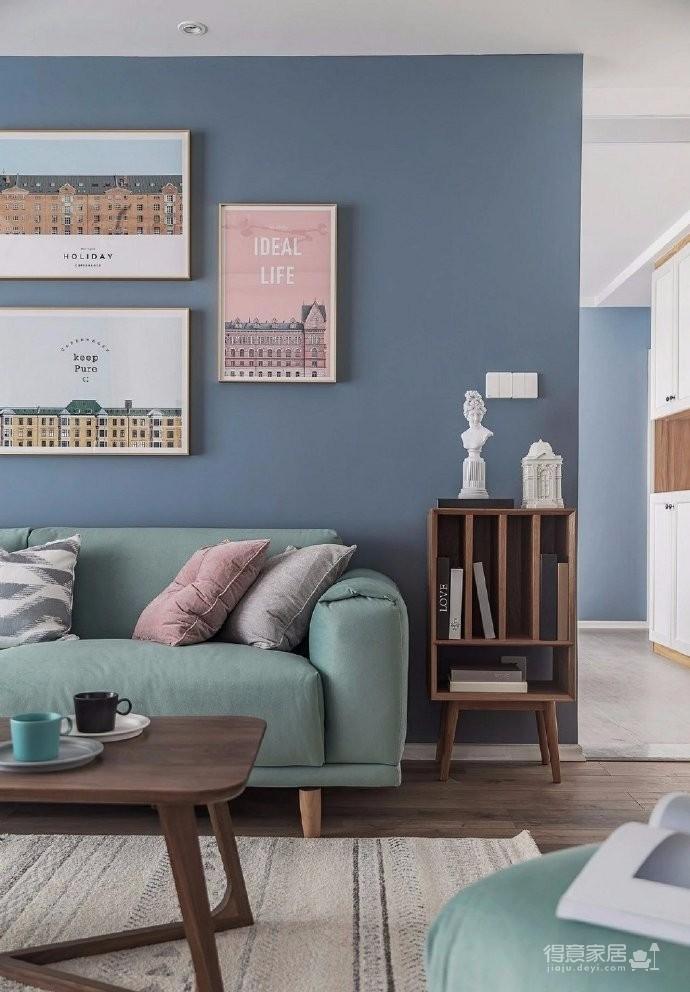 清新细腻北欧风格三居室装修,蓝色调的简约自然之美! 图_2