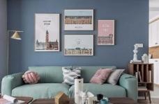 清新细腻北欧风格三居室装修,蓝色调的简约自然之美! 图_3