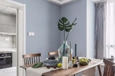 清新细腻北欧风格三居室装修,蓝色调的简约自然之美! 图_10