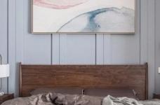 清新细腻北欧风格三居室装修,蓝色调的简约自然之美! 图_6