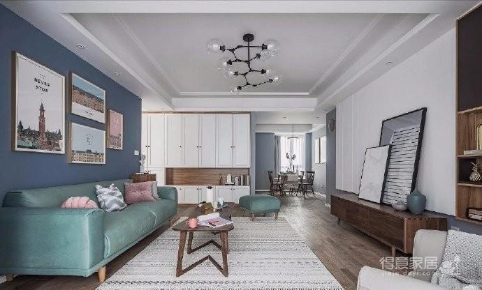 清新细腻北欧风格三居室装修,蓝色调的简约自然之美! 图_4