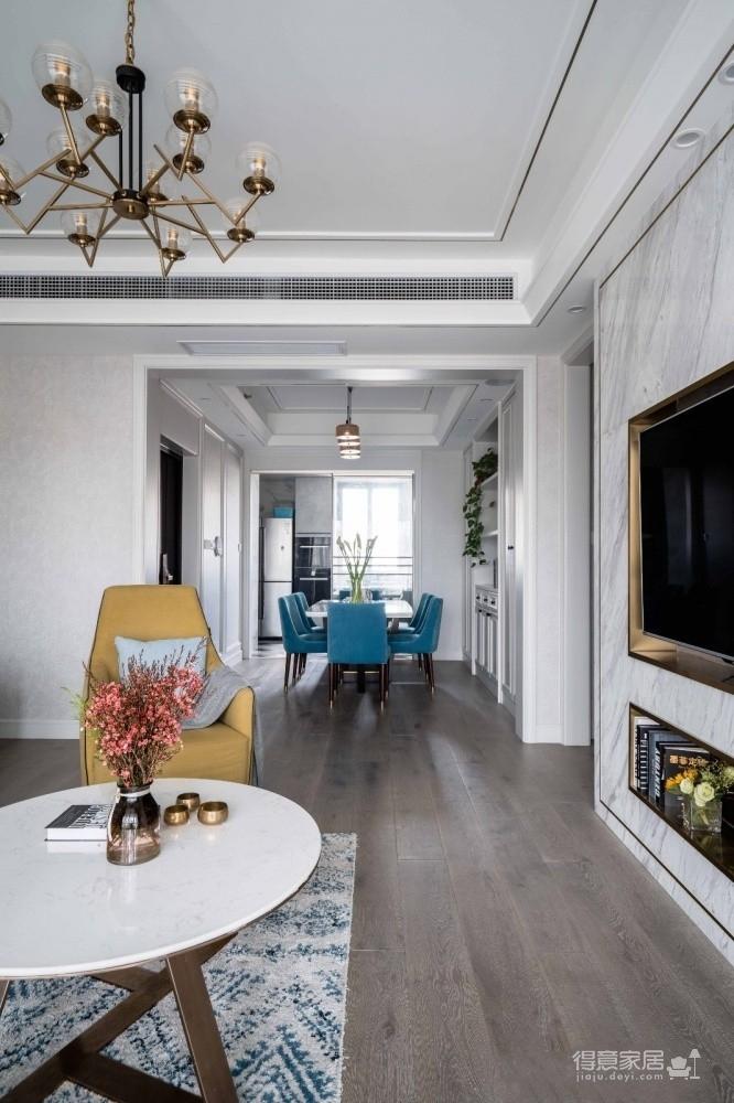 三和剑桥城153平四室两厅轻奢风格装饰效果图