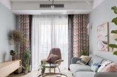 89㎡简约北欧风格家居装修设计,文艺小清新的幸福小窝图_4