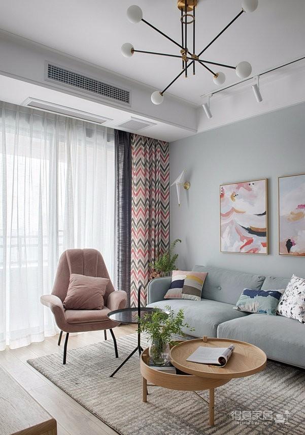 89㎡简约北欧风格家居装修设计,文艺小清新的幸福小窝图_5
