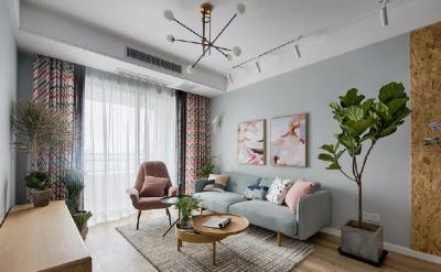 89㎡简约北欧风格家居装修设计,文艺小清新的幸福小窝