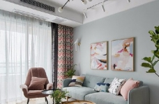 89㎡简约北欧风格家居装修设计,文艺小清新的幸福小窝图_1